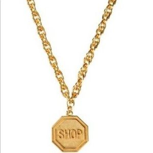 "Moschino Gold ""SHOP"" necklace"